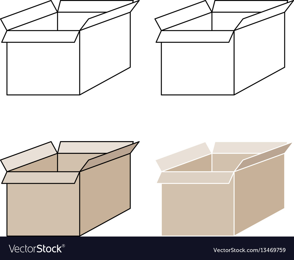 Light brown present box with pick out paths