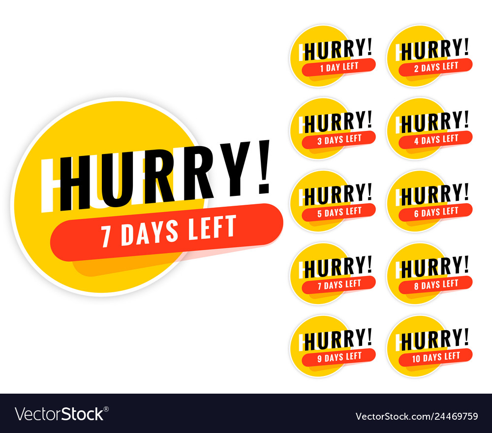 Number of days left promotional banner design
