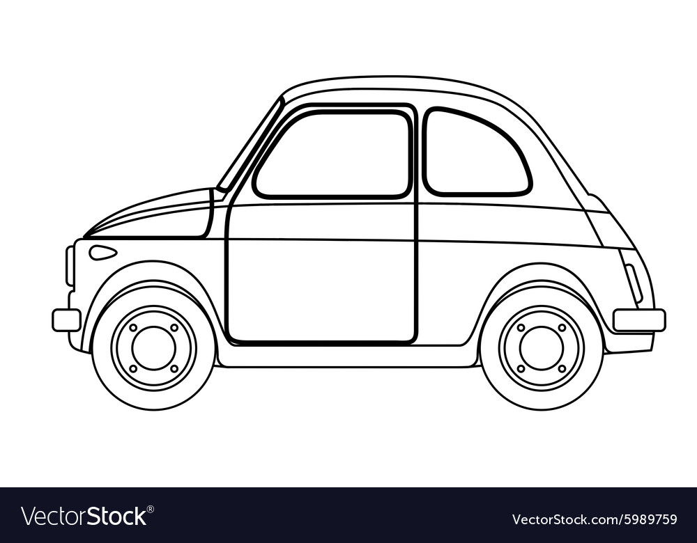 Old car sketch Royalty Free Vector Image - VectorStock