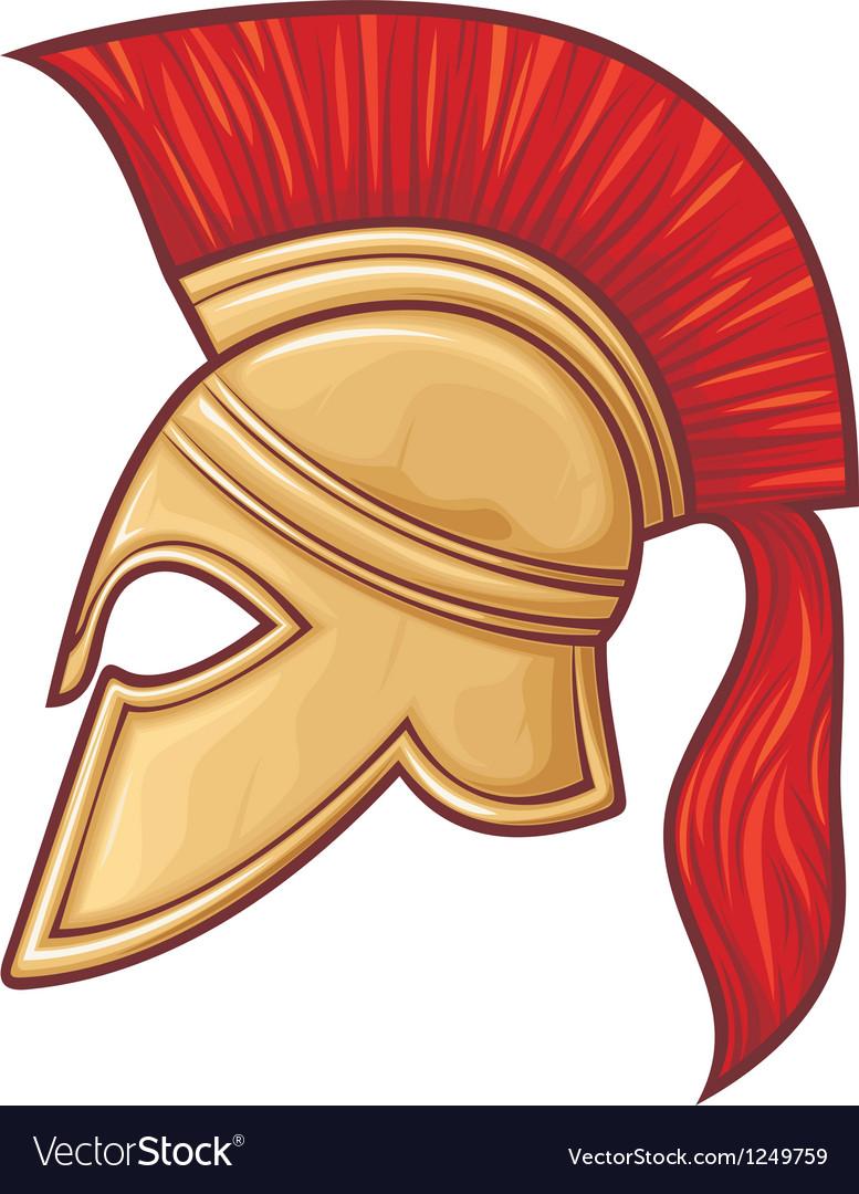 Spartan Helmet Royalty Free Vector Image Vectorstock