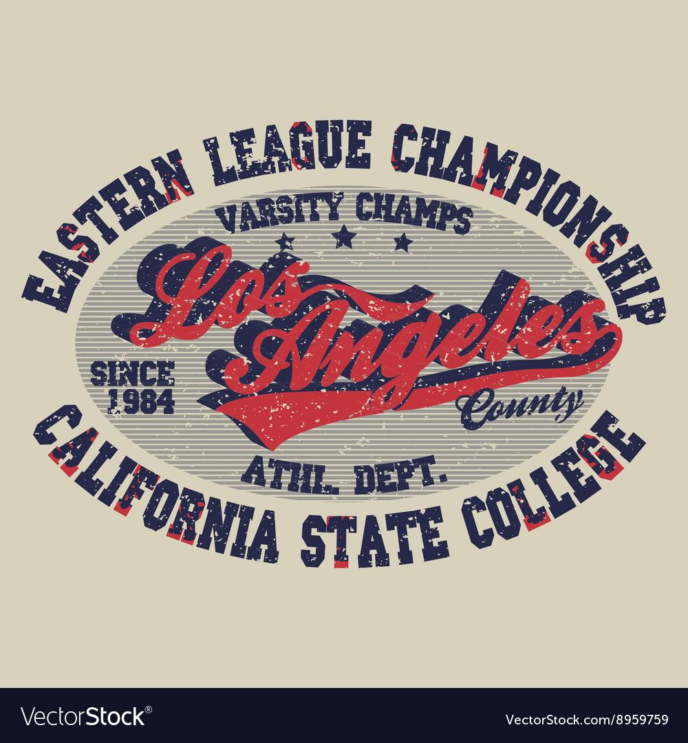 T-shirt Los Angeles print