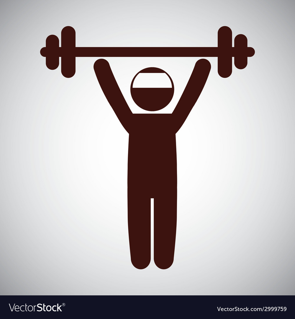 Weight lifting design vector image