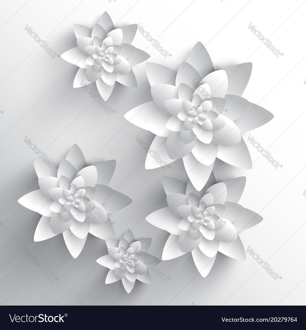 Abstract 3d Paper Flower Royalty Free Vector Image