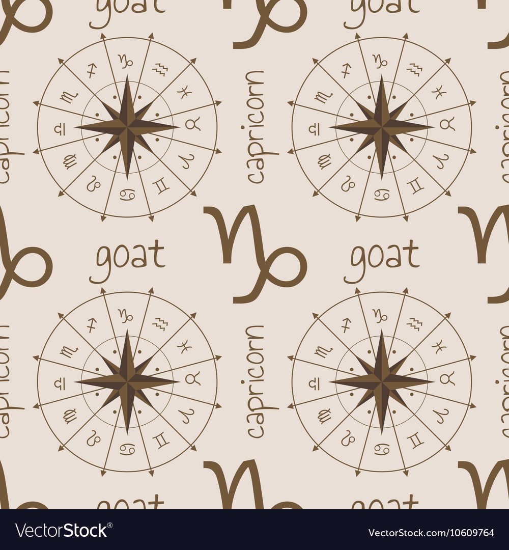 Astrology sign Goat Seamless pattern