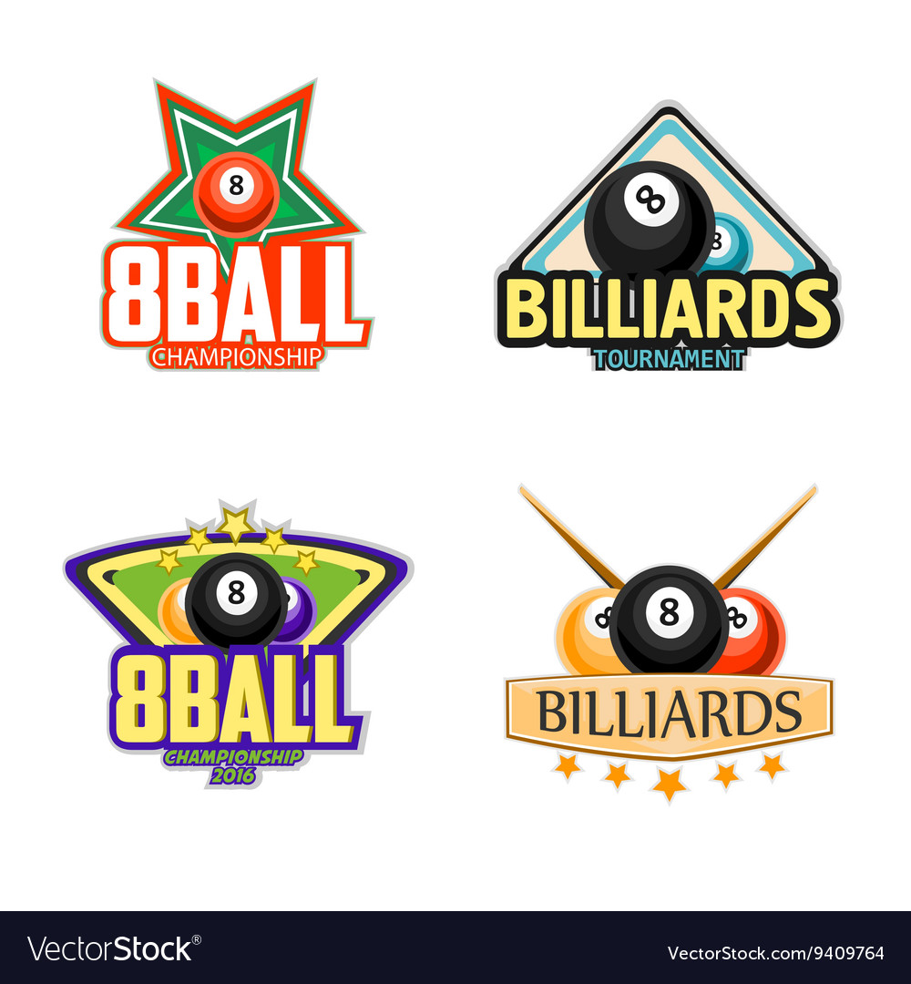 Billiards pool and snooker sport icons