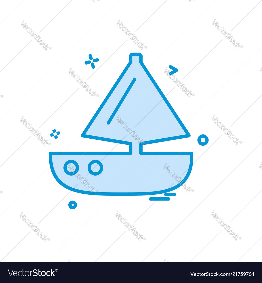 Boat icon design