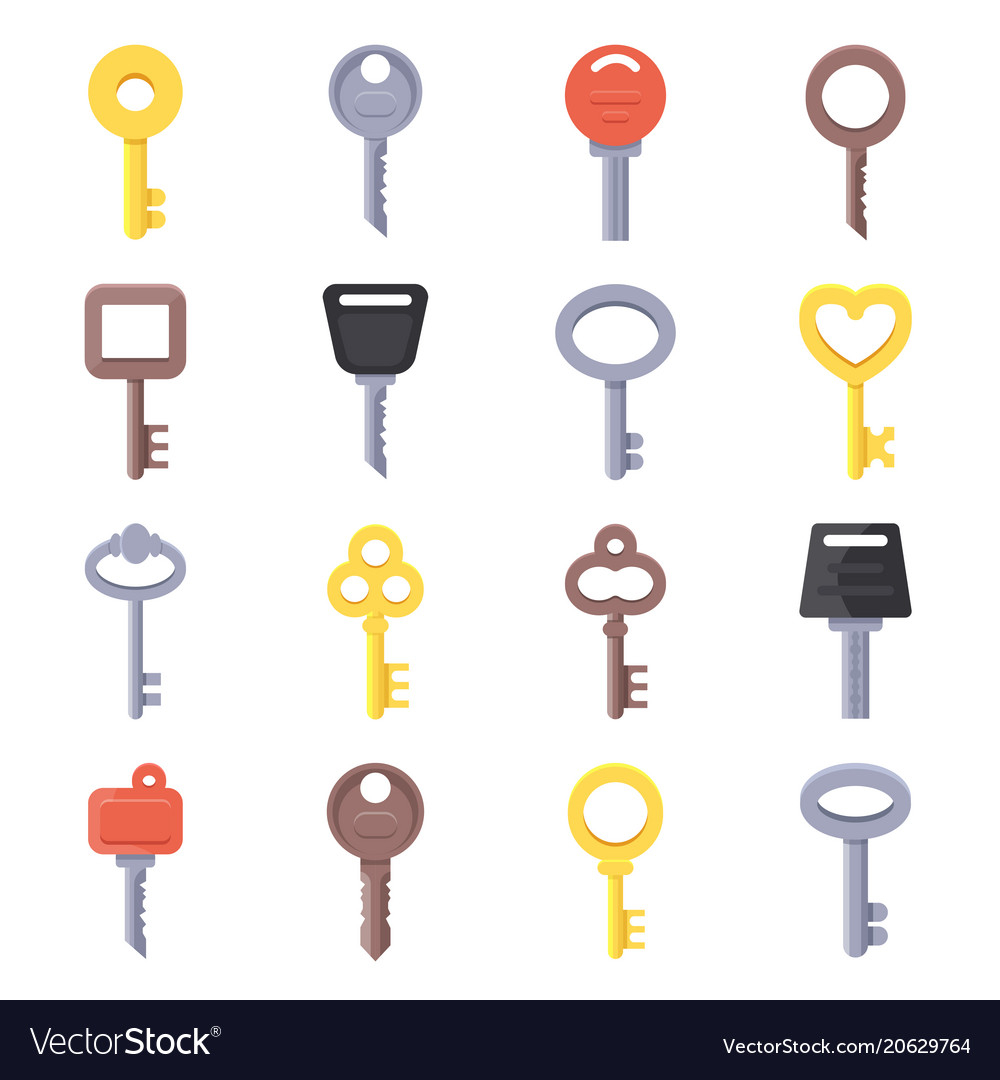 Flat of different type of keys