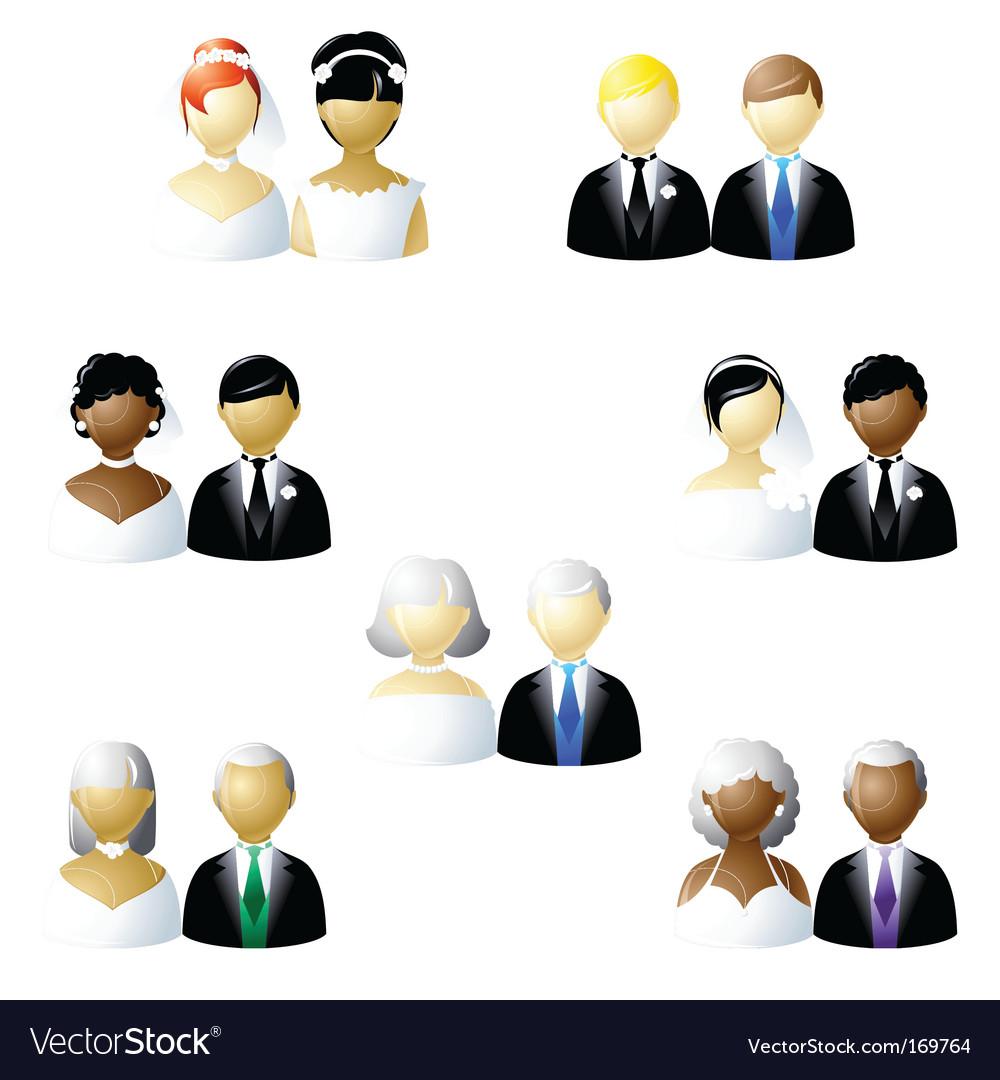 Nontraditional weddings vector