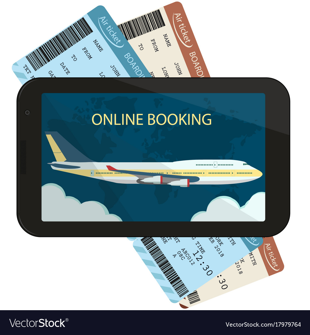 Online ordering and booking of air tickets