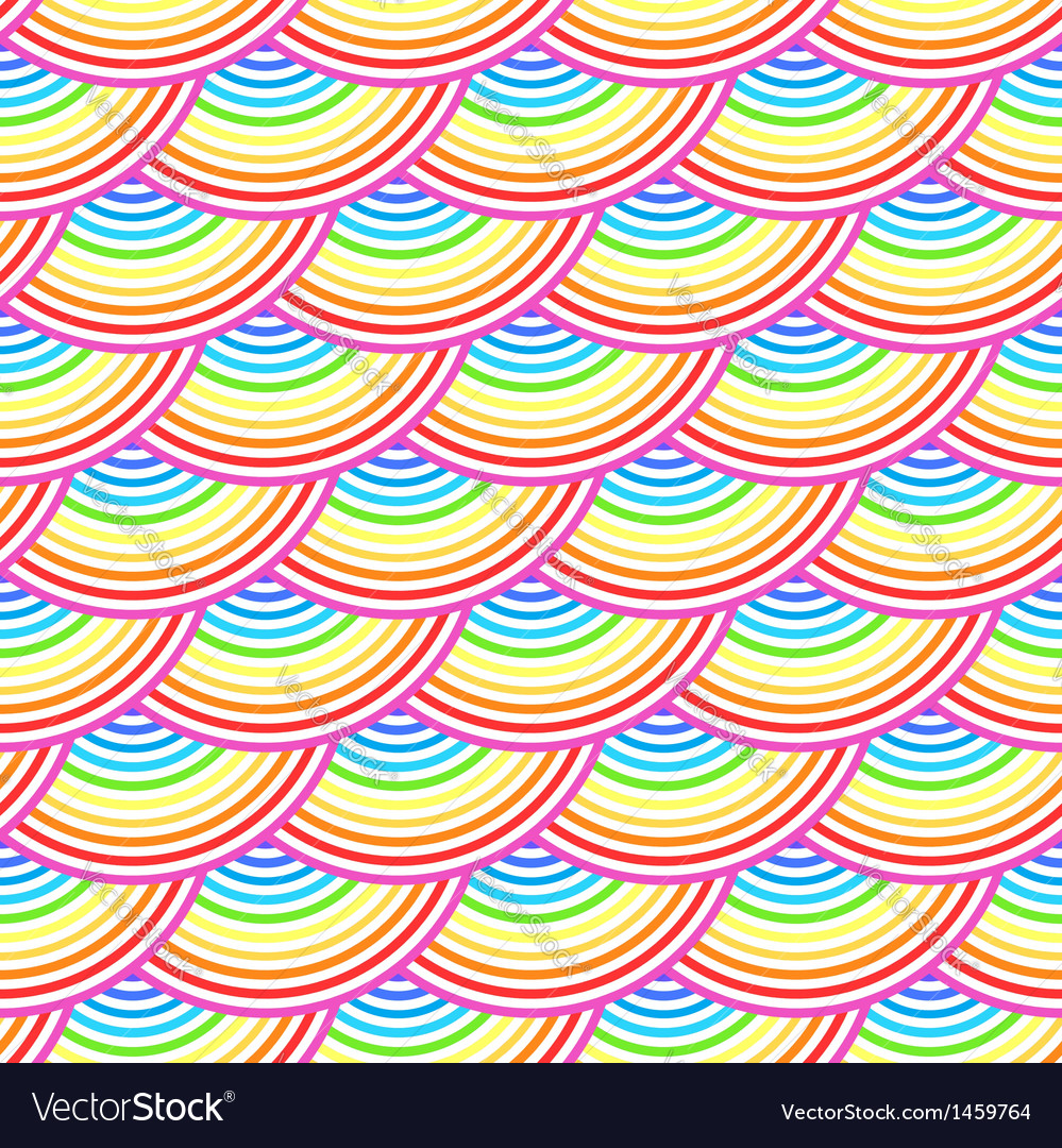 Rainbow fish scales seamless pattern