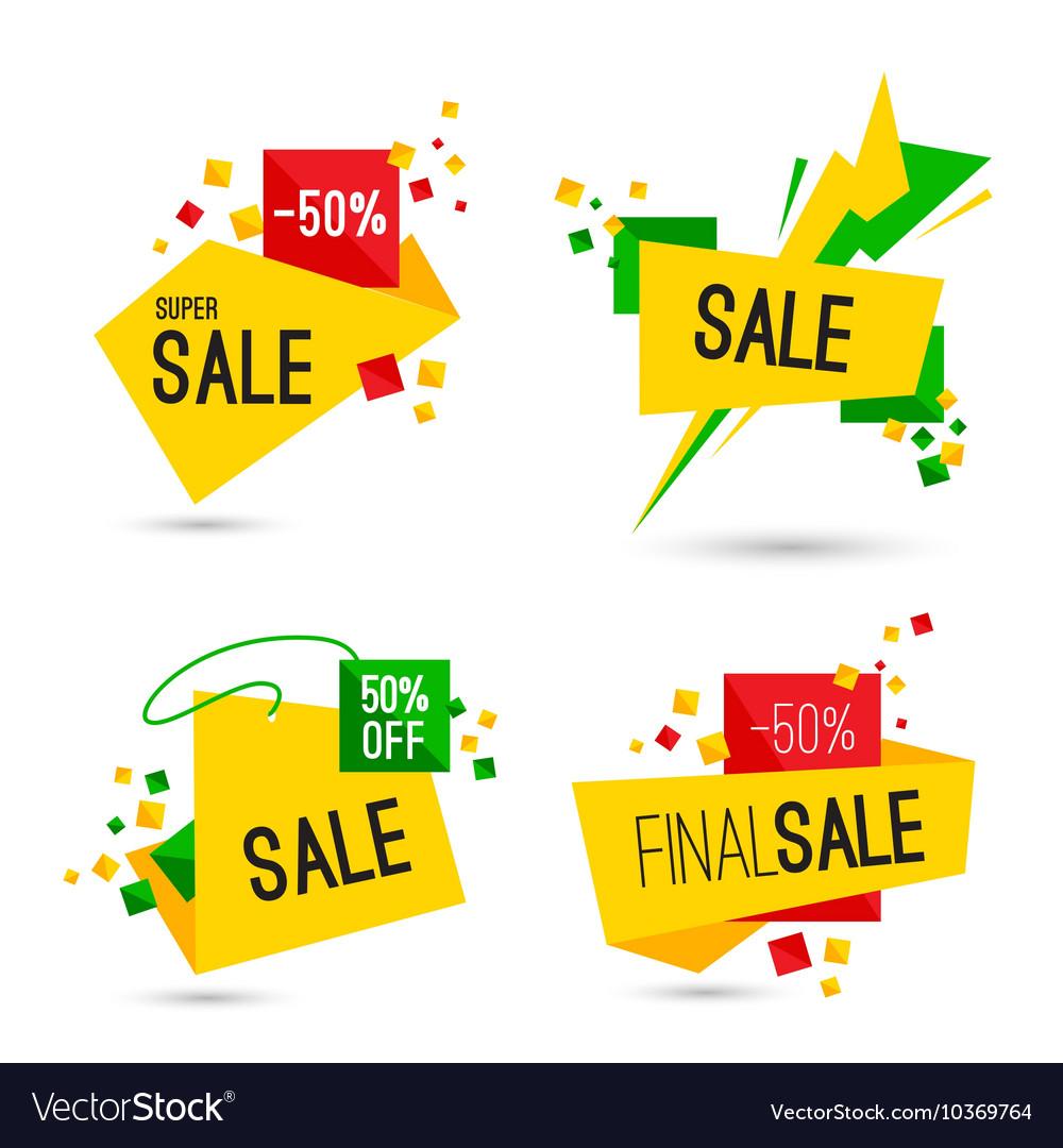 Set of super final sale banners