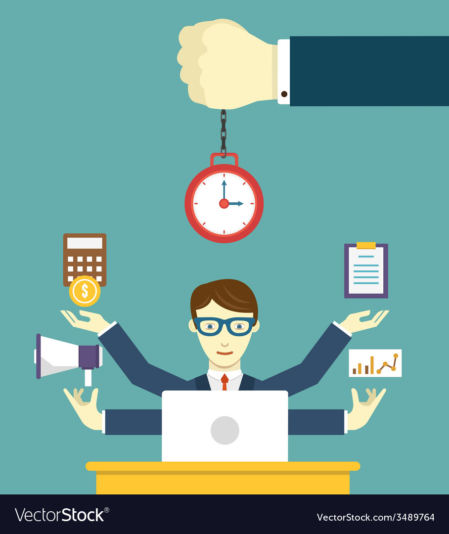 Time Management Pledge Of Success Royalty Free Vector