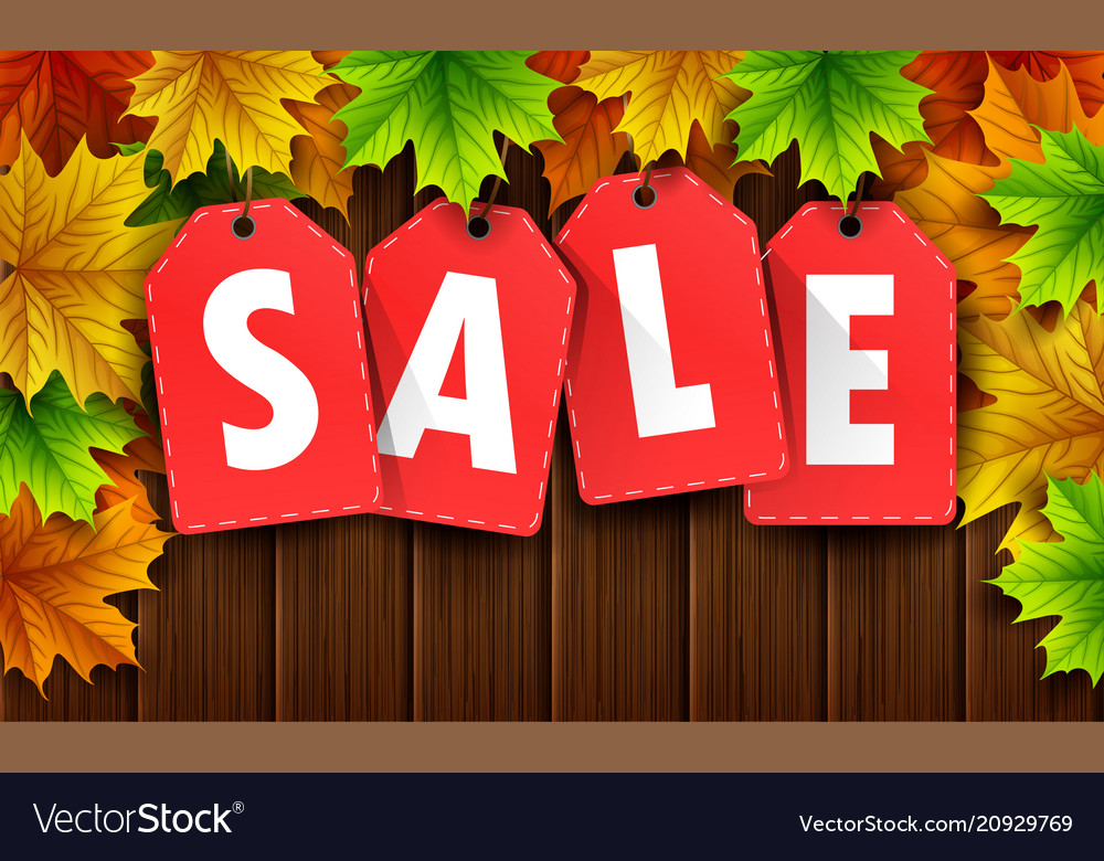 Autumn sale banner with colorful frame