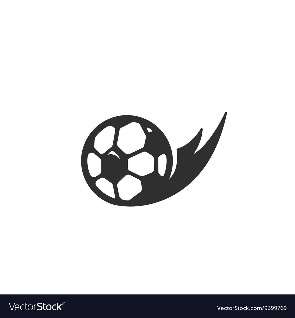 Football Icon logo on white background