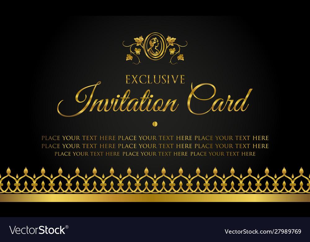 Invitation Card Design In Luxury Style