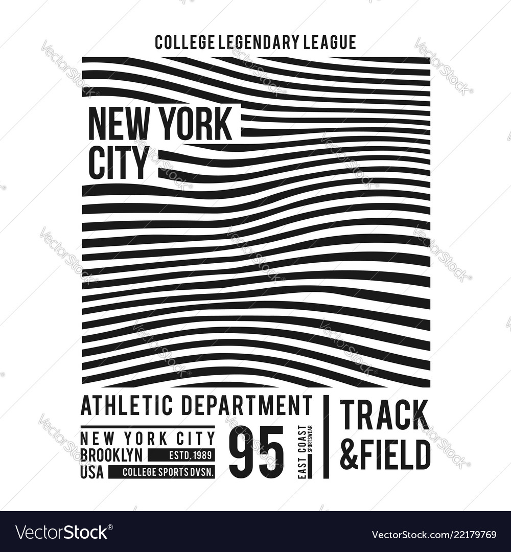 New york typography for t-shirt print abstract