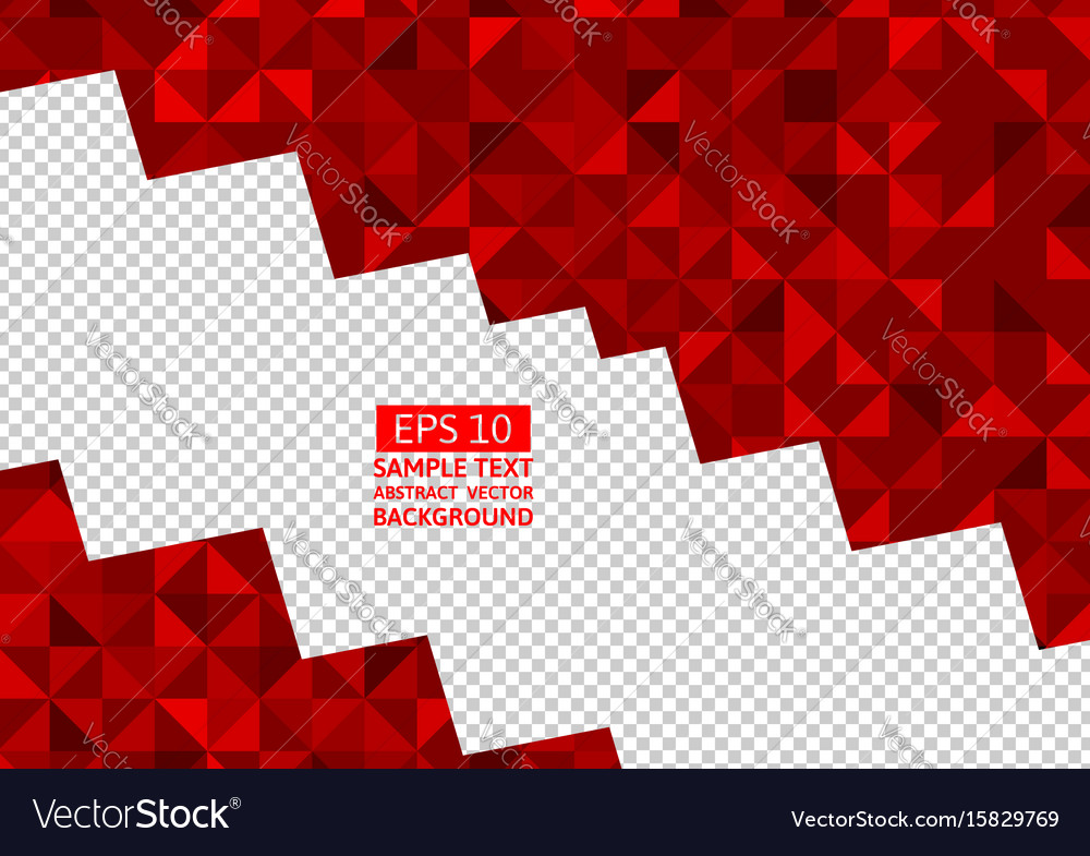Red abstract background lowpoly