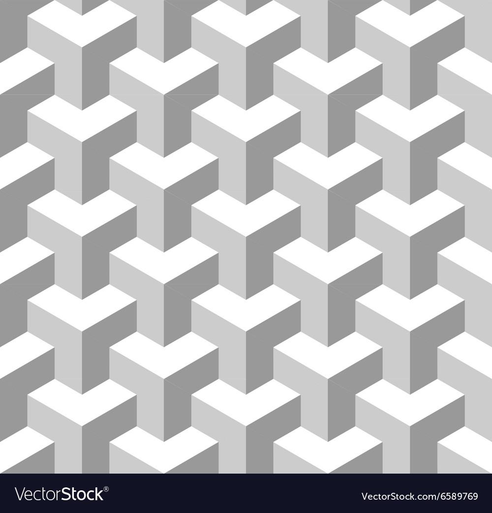Seamless Geometric Pattern Grayscale Background