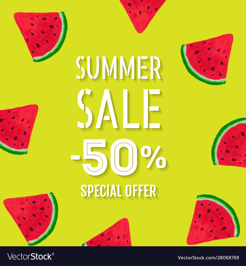 Summer sale poster special offer