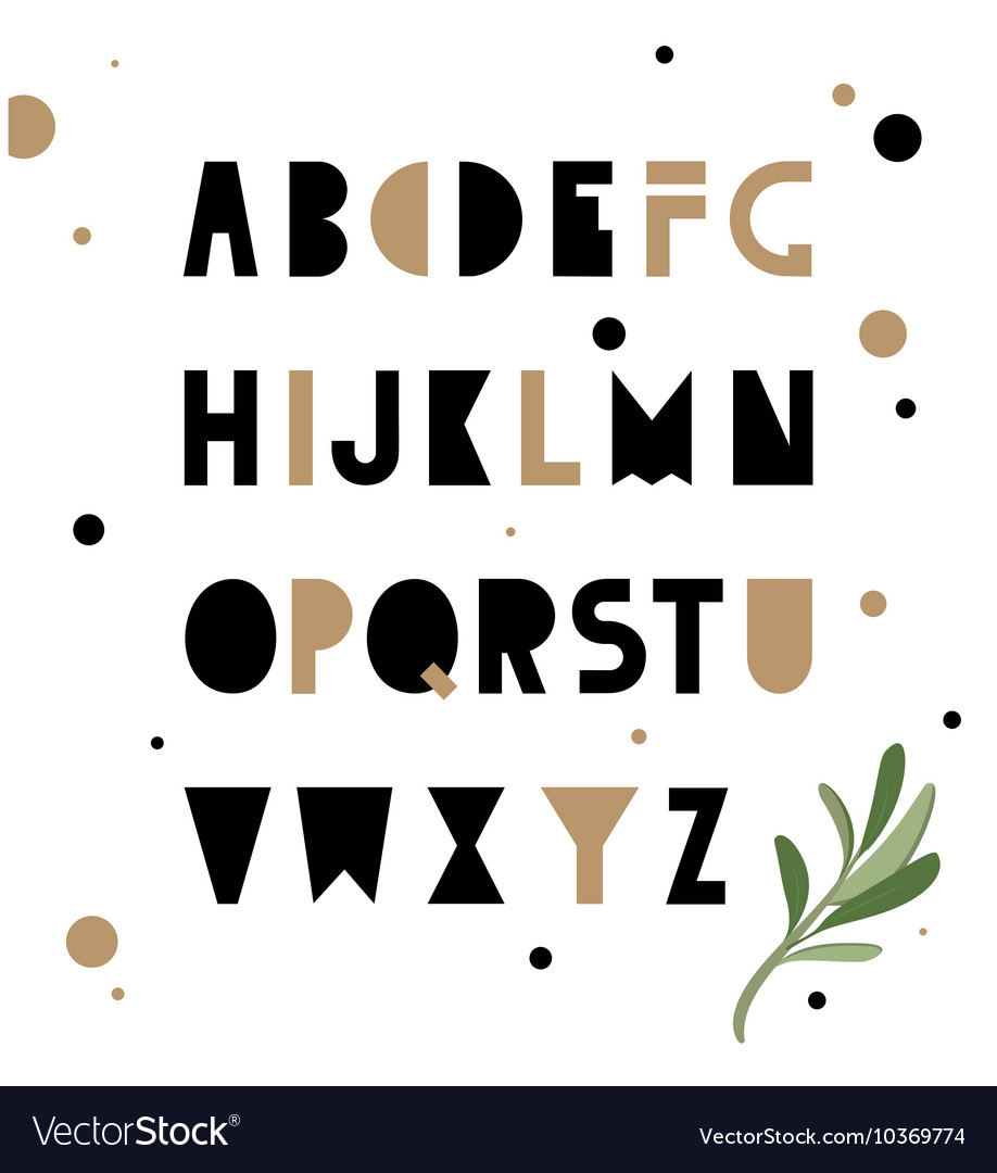 Abstract geometry alphabet Hipster