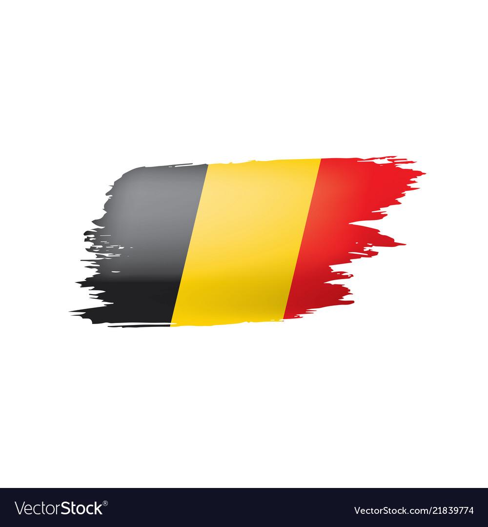 Belgium flag on a white