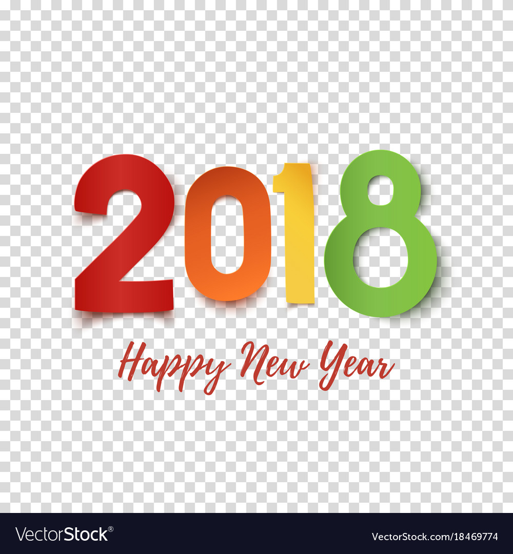 happy new year 2018 design template vector image