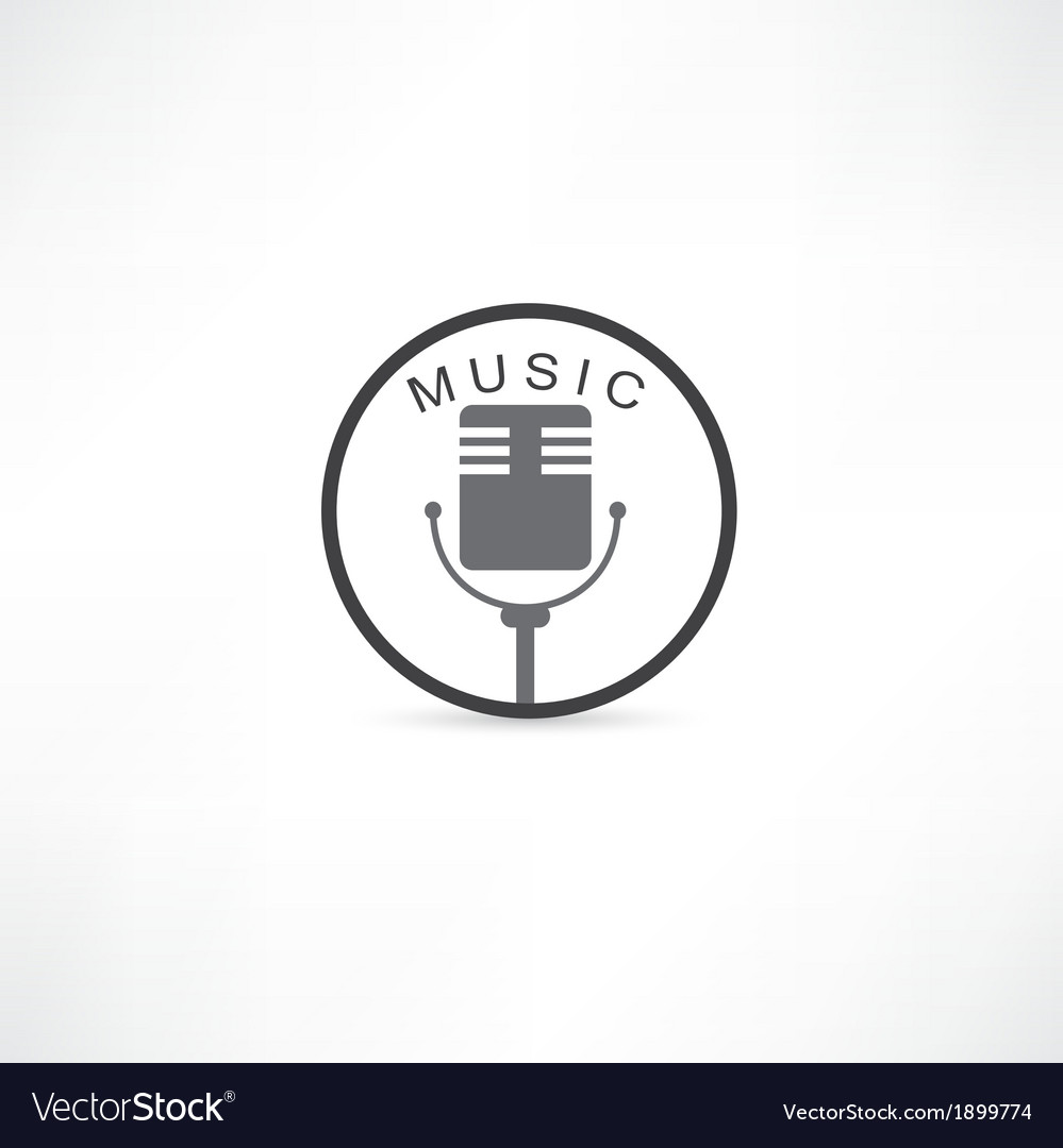 Mic grunge icon vector image