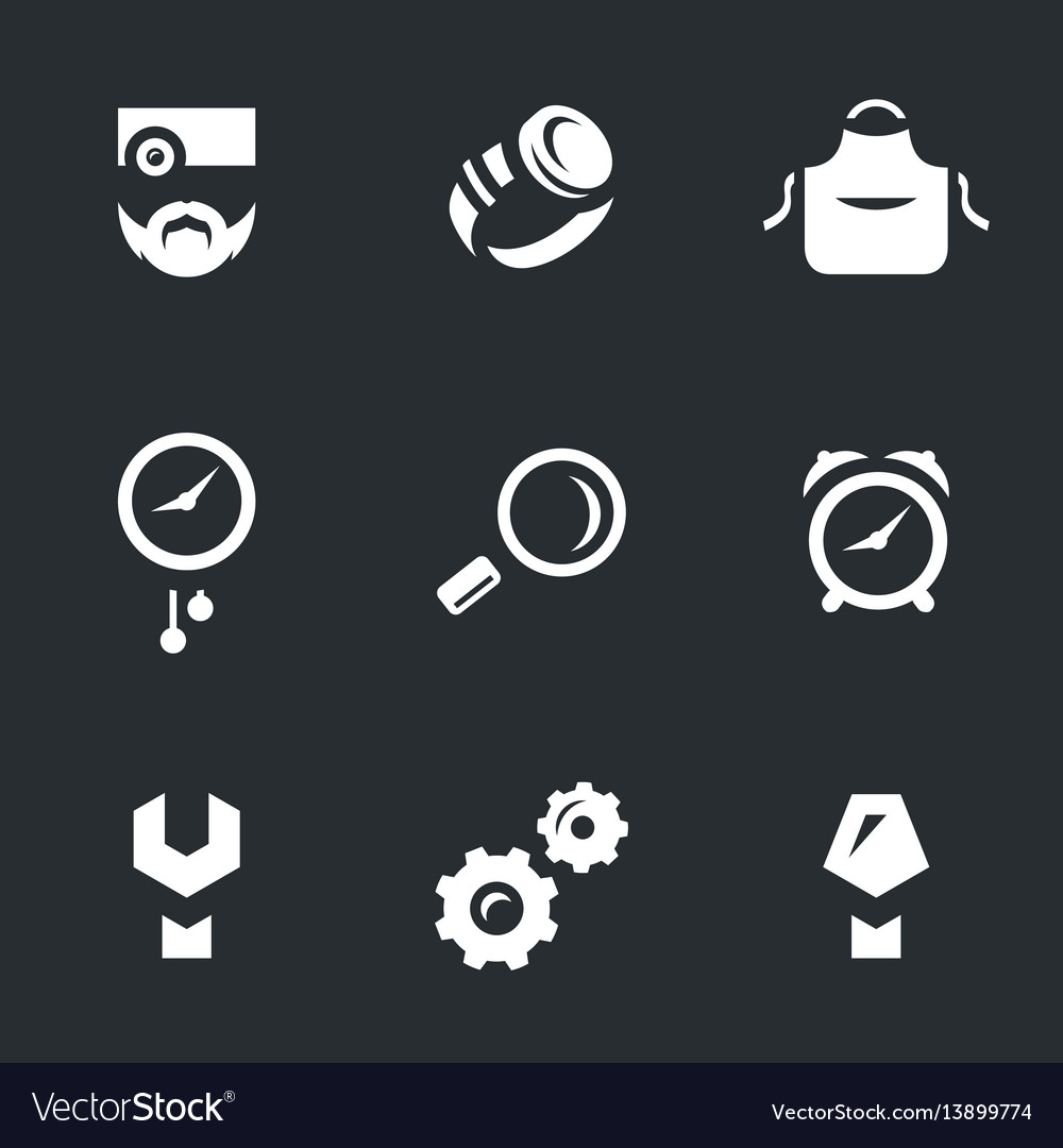 Set of watchmaker icons