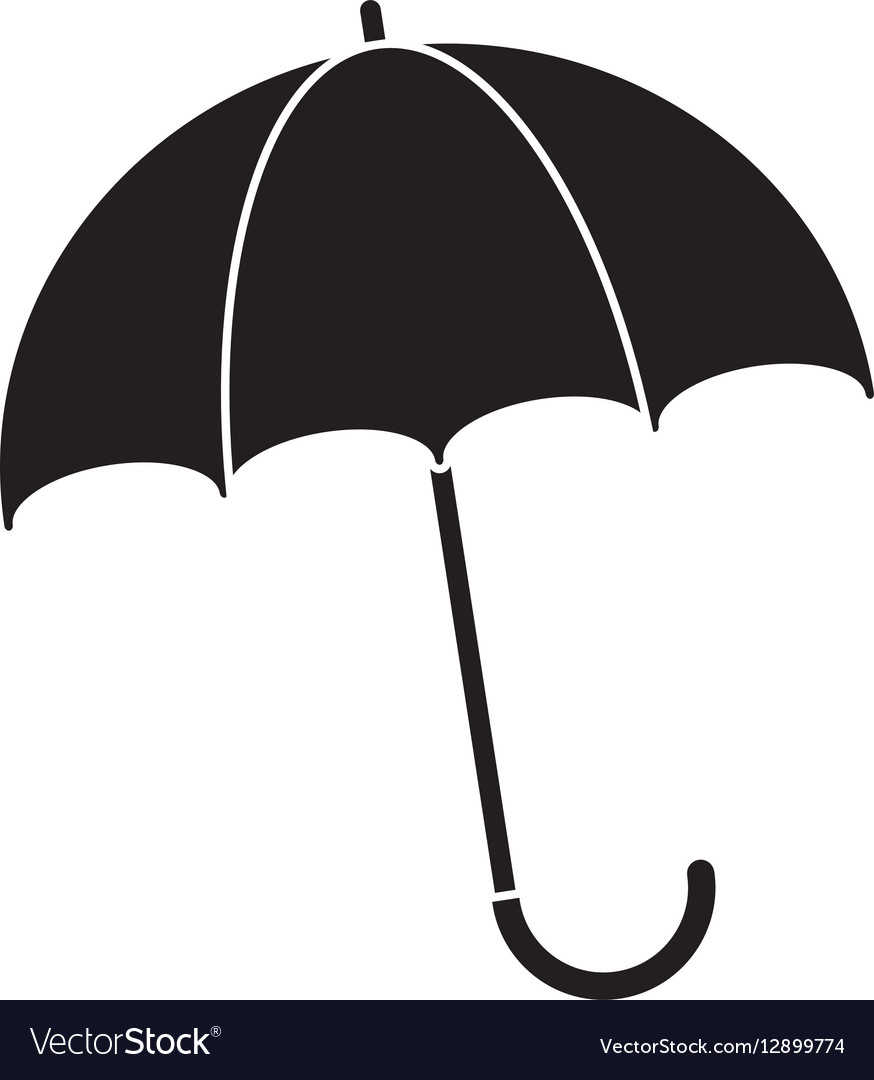 2a664166dc21c Silhouette umbrella accessory Royalty Free Vector Image