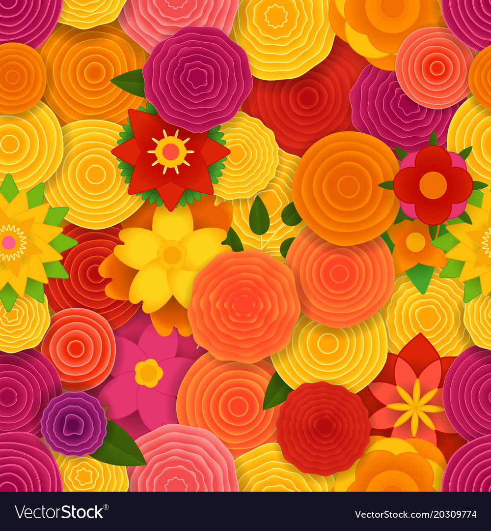 Spring floral seamless pattern background