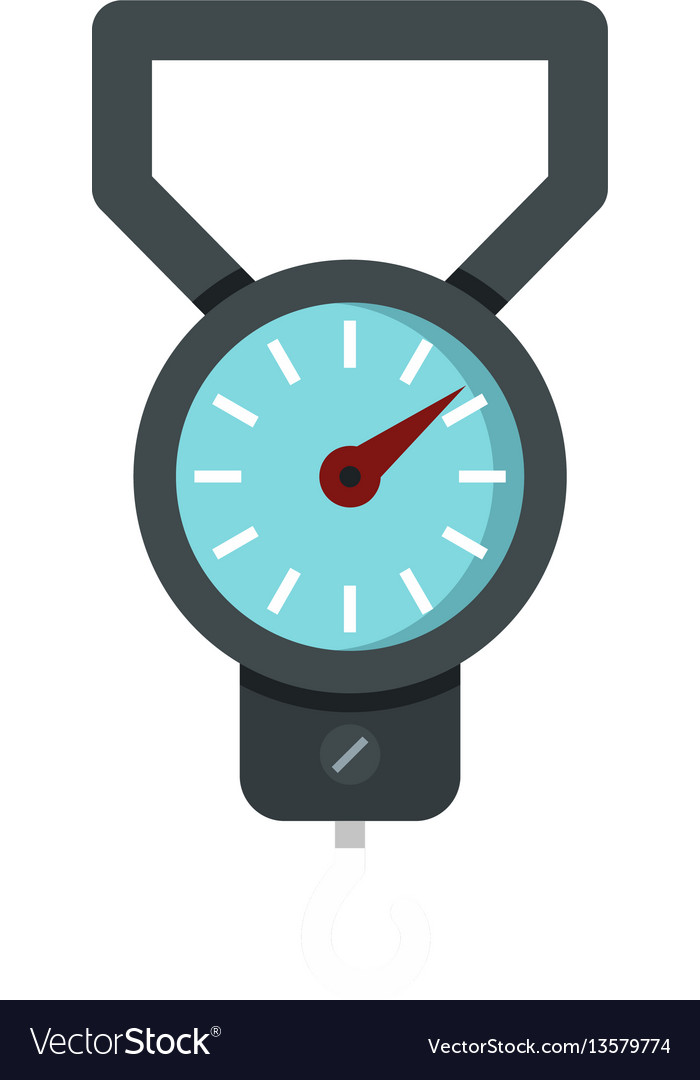Spring scale icon flat style