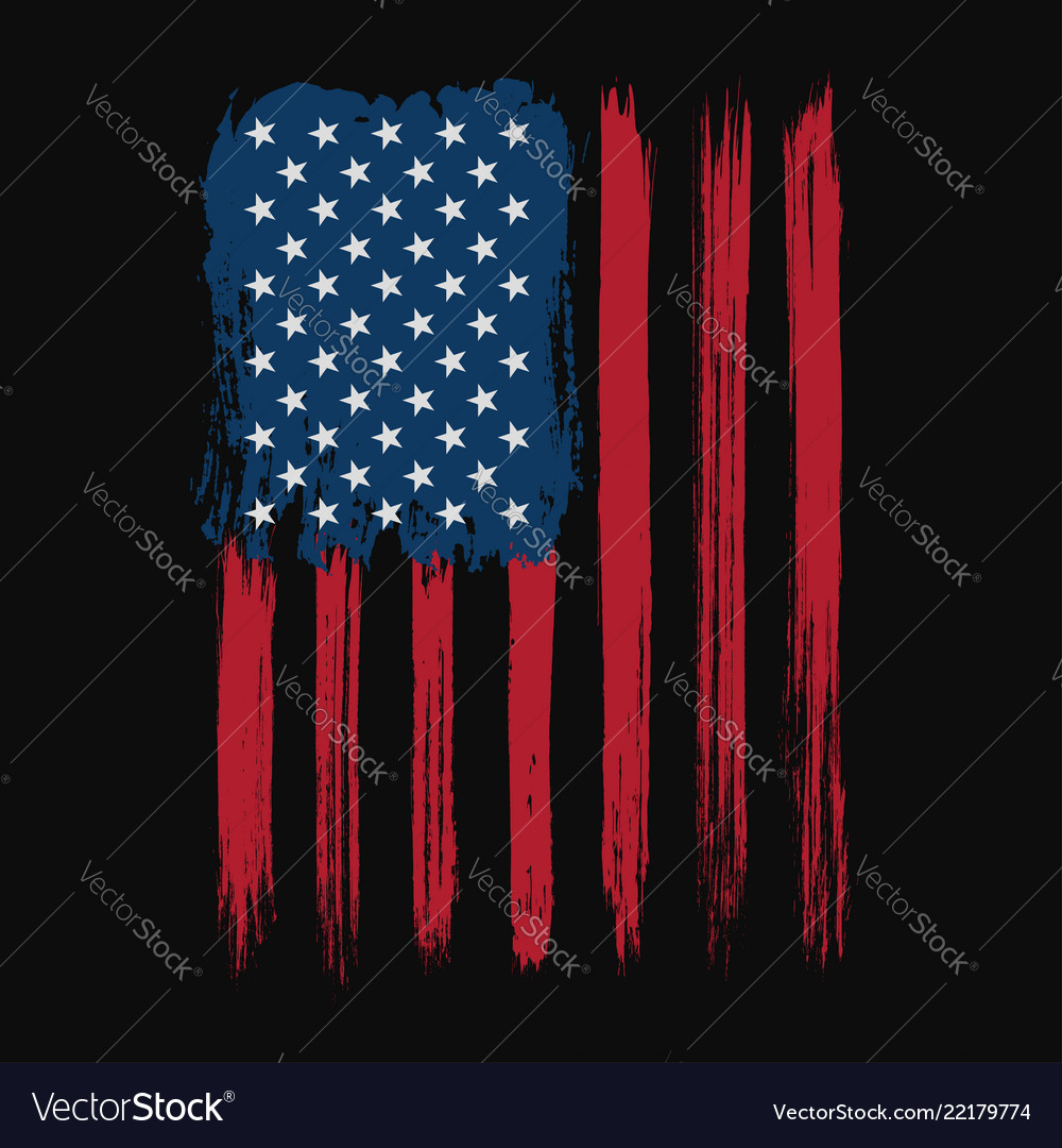 T-shirt graphic design with american flag