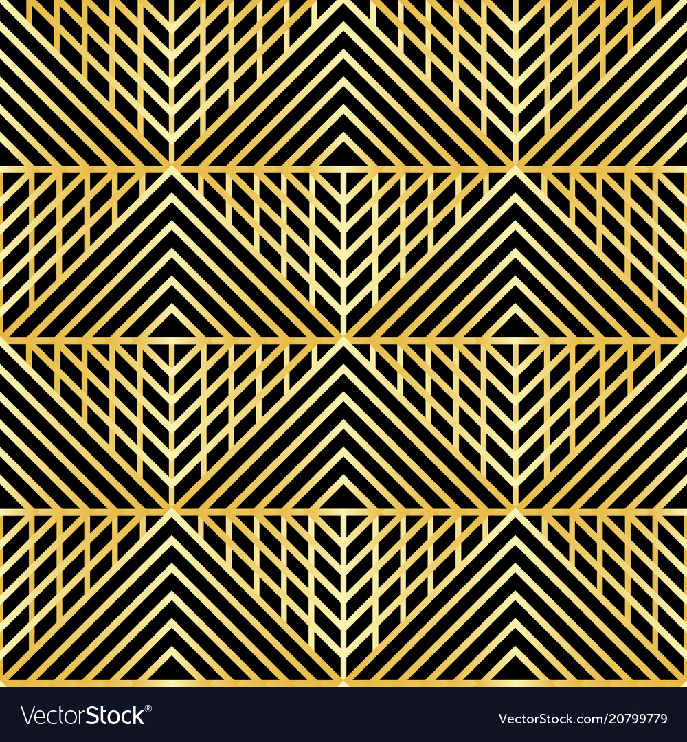 Abstract luxury geometric seamless patterm