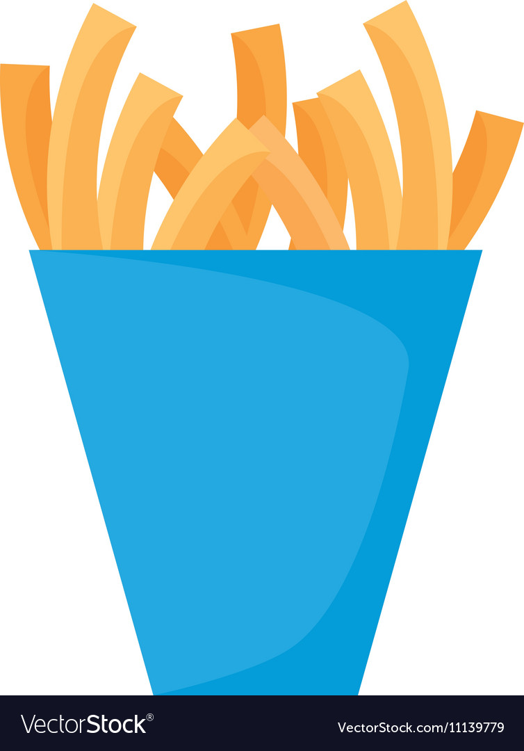Delicious french fries isolated icon vector image