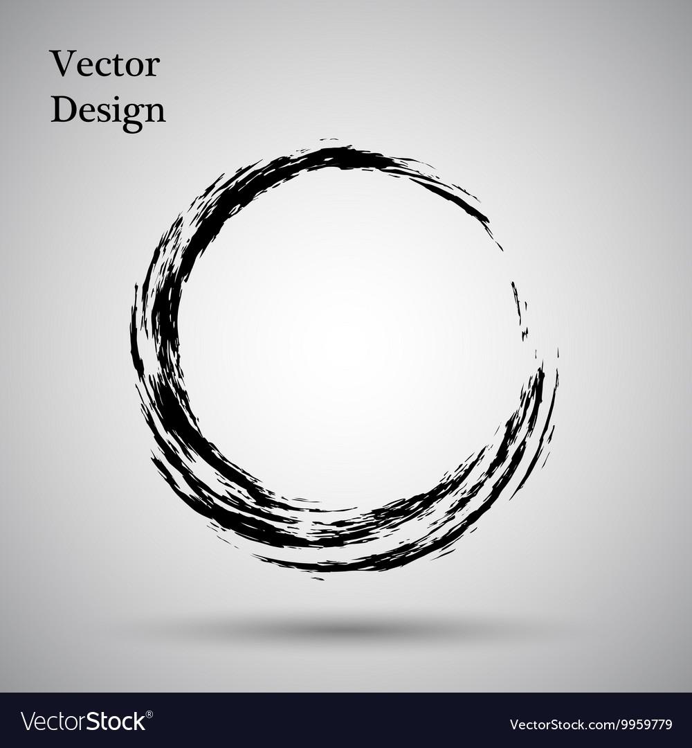 Hand Drawn Circle Shape Label Logo Design