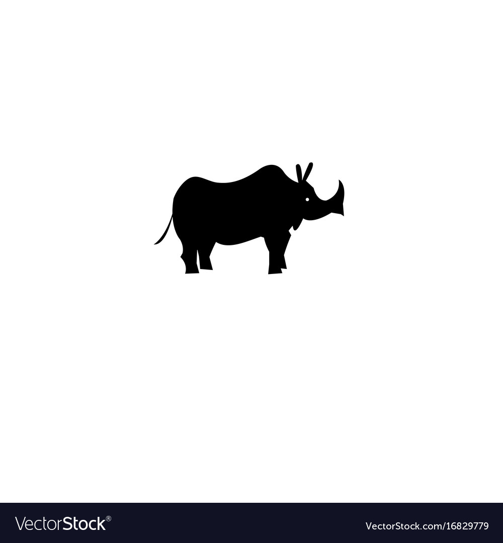 Icon of a rhino