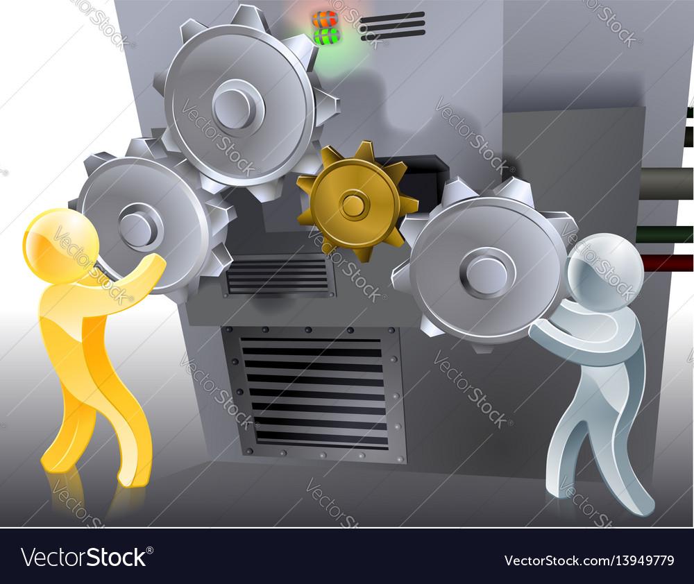 Mascots setting machine