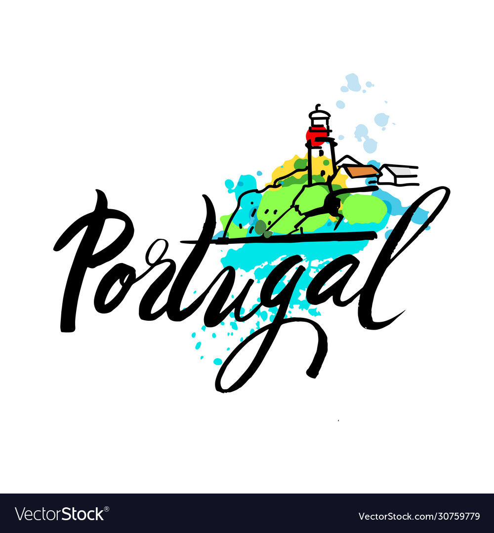 Portugal travel destination logo