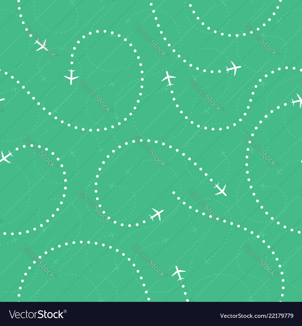 Travel concept seamless pattern abstract airplane