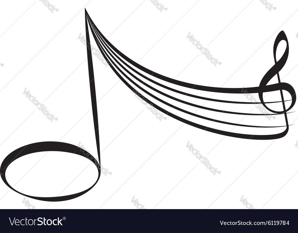 Abstract music design element vector image
