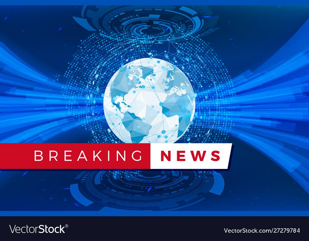 Breaking news studio template holographic globe
