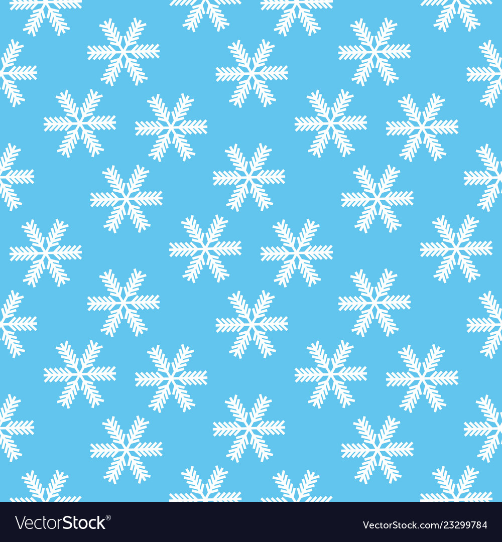 Christmas seamless pattern of snowflakes with