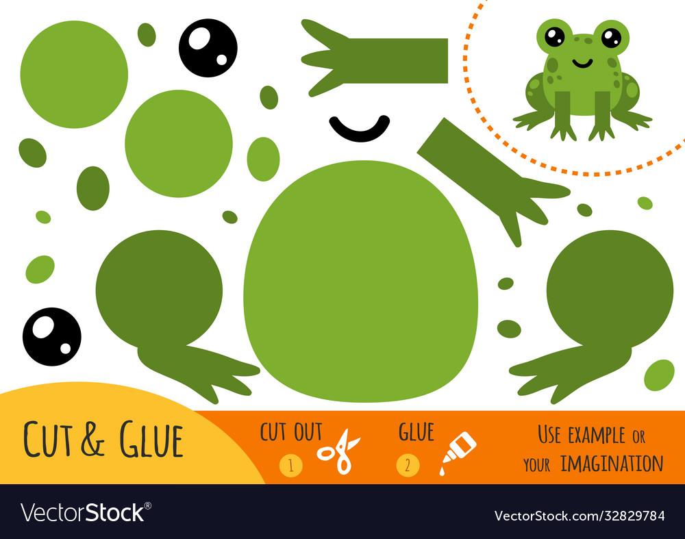 Education paper game for children frog