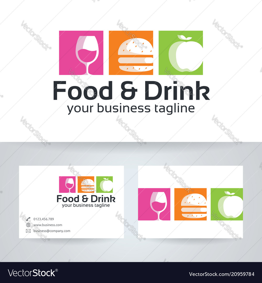 Food drink logo design