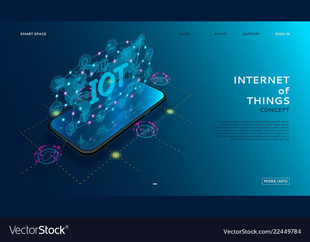 Internet of things technology concept