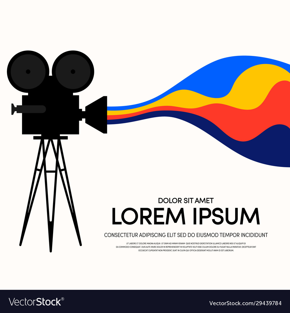 Movie and film modern retro vintage poster