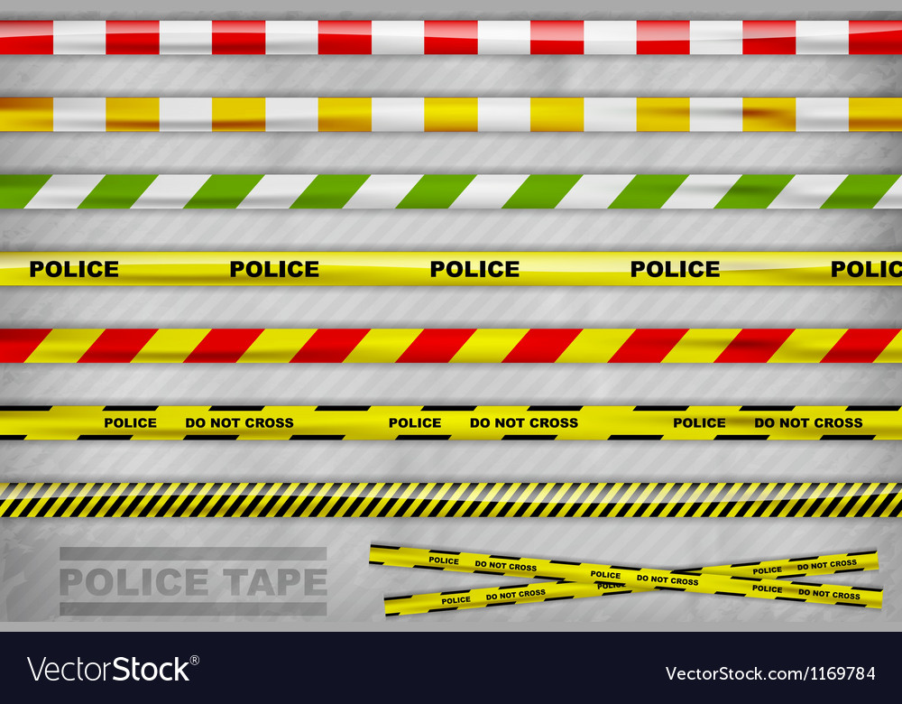 Police tape vector image