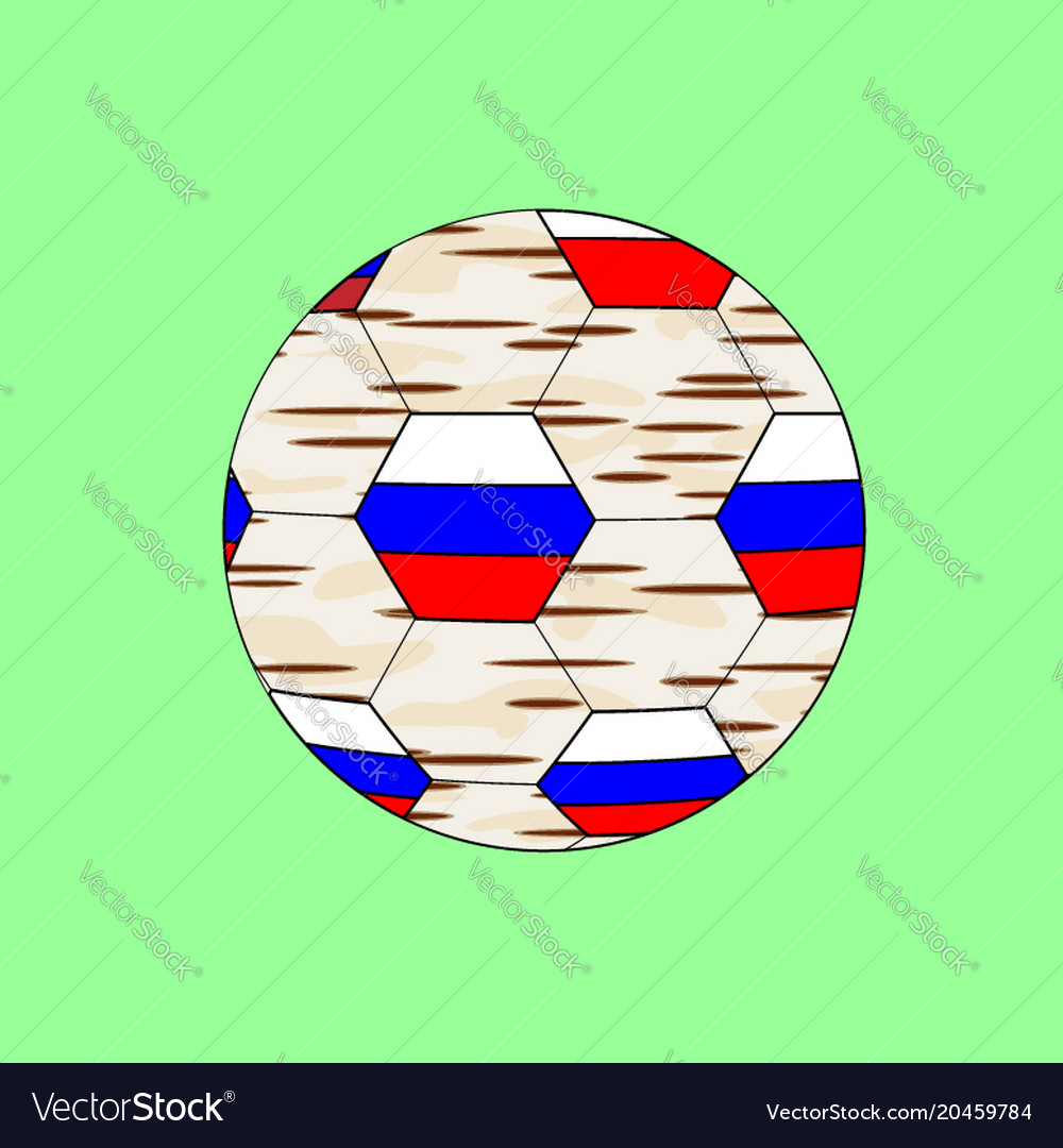 Soccer cup on football 2018 russia graphic design vector image