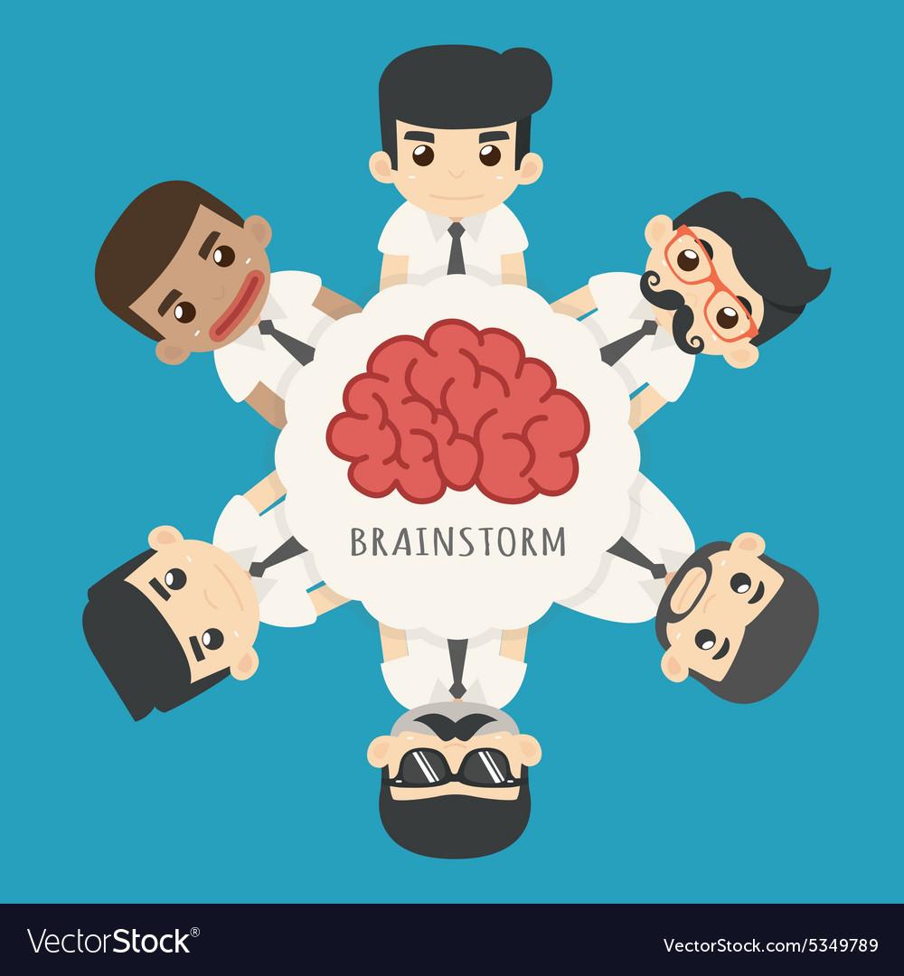 Businessman brainstorm eps10 format