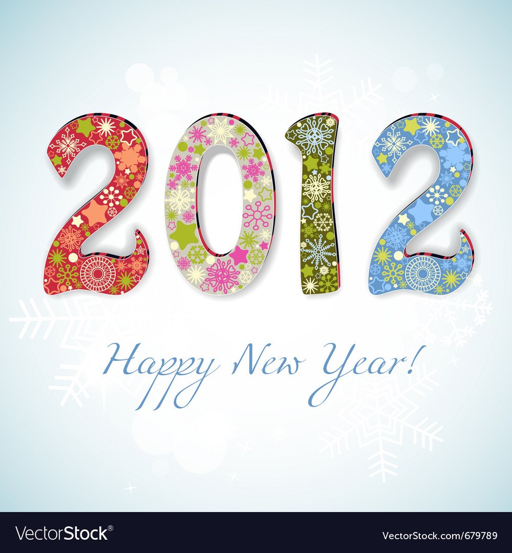 New year 2012 number